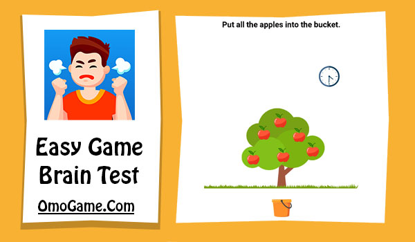 Easy Game Level 186 Put all the apples into the bucket