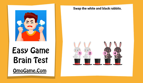 Easy Game Level 135 Swap the white and black rabbits