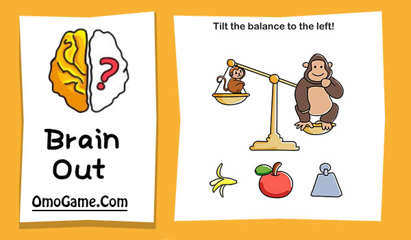 Brain Out Level 213 Tilt the balance to the left!