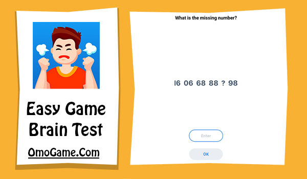 Easy Game Level 128 What is the missing number 16 06 68 88 98