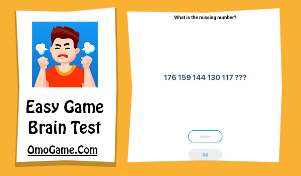Easy Game Level 133 What is the missing number 176 159 144 130 117
