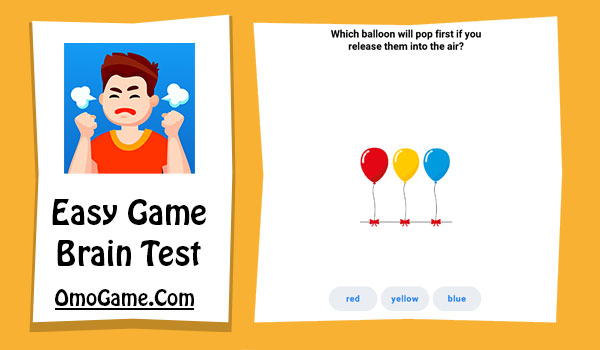 Easy Game Level 207 Which balloon will pop first if you release them into the air