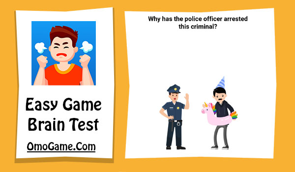 Easy Game Level 141 Why has the police officer arrested this criminal